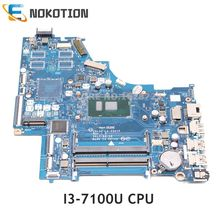NOKOTION 924749-601 924749-001 KL50 LA-E801P carte mère pour HP pavillon 15-BS ordinateur portable carte mère I3-7100U CPU UMA MB