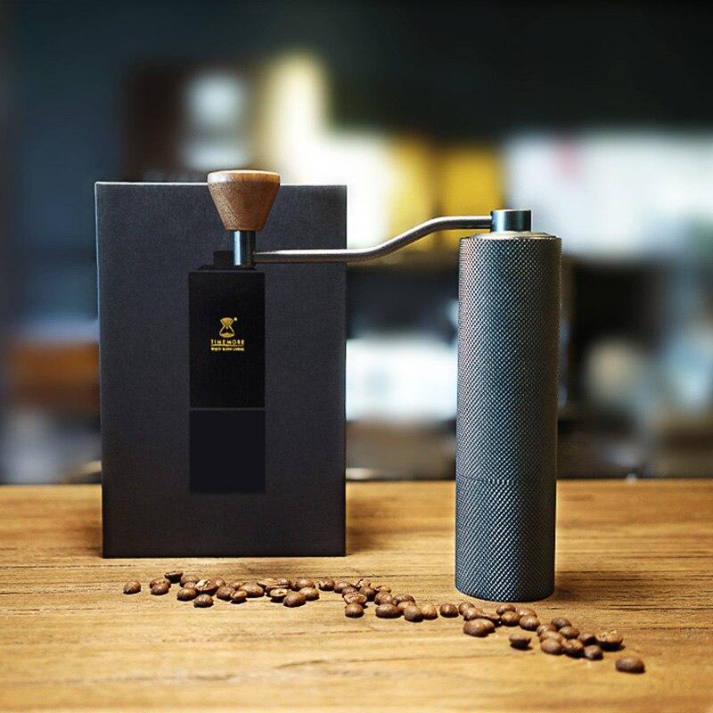 Timemore ضئيلة عالية الجودة دليل طاحونة القهوة الألومنيوم القهوة ميلر 20g آلة طحن القهوة الصغيرة