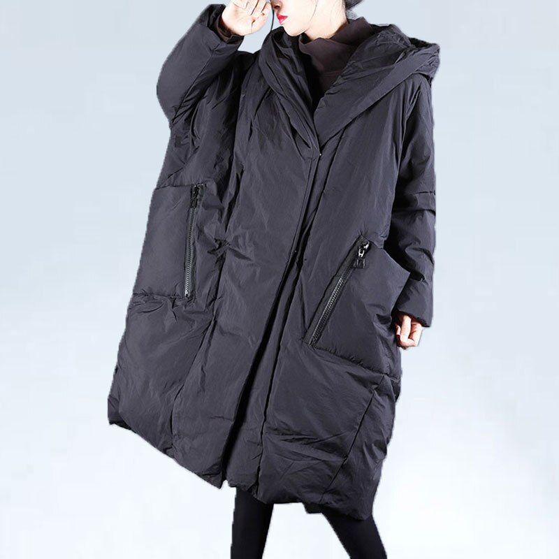 Inverno jaqueta feminina 2020 oversized feminino jaqueta casual grande bolso com capuz longo casaco coreano rua outerwear roupas femininas
