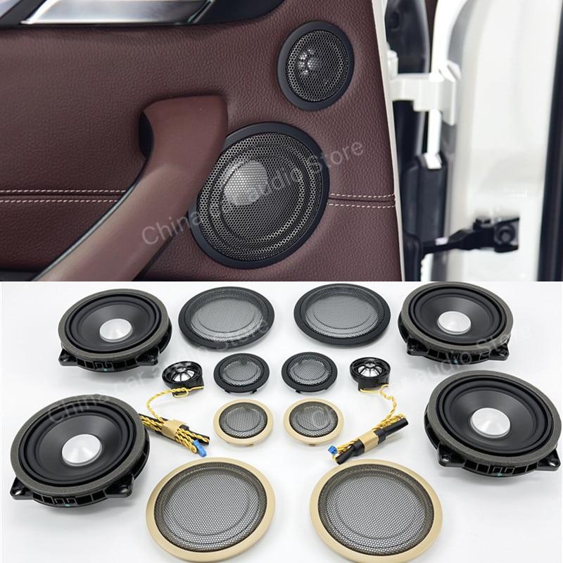 Car Door Tweeter And Midrange Cover For BMW F30 F31 F34 F52 F48 F15 F39 Series Treble Audio Speaker loudspeaker Horn Accessories