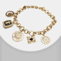 j46 retro gold plated chain pendant necklace statement girl hip hop jewelry chokers collar