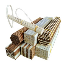 10PCS/lot Multi-size Round Square Bamboo Sticks DIY Handcraft Making Modeling Materials