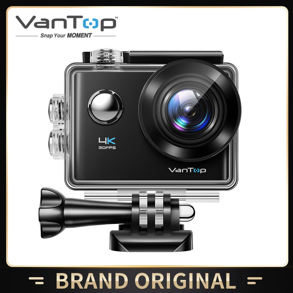 VanTop Moment D4UQ 4K Action Camera 20MP Underwater Waterproof Camera with Wifi Touch Screen Wireless Remote 170° Wide Angle Cam