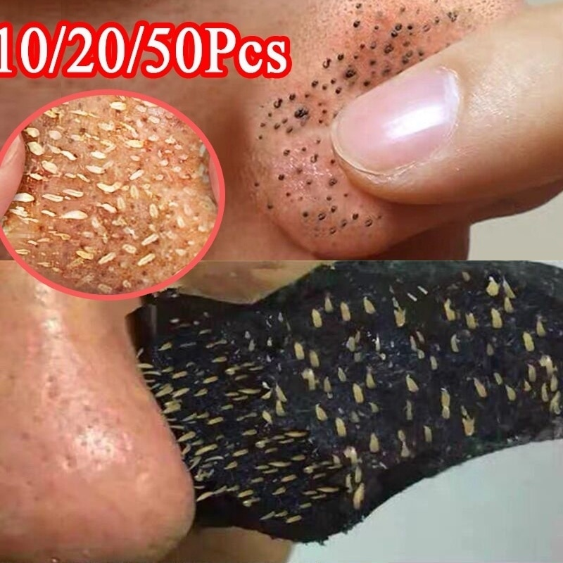 60pc Nose Blackhead Remover Strip Acne Treatment Mask Nose Sticker From Black Dots Cleaner Nose Pore