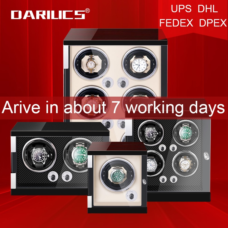 Automatic Watch Winder Box Uhrenbeweger Mechanical Display 1/2/4/6 Slots Male watch Automatic