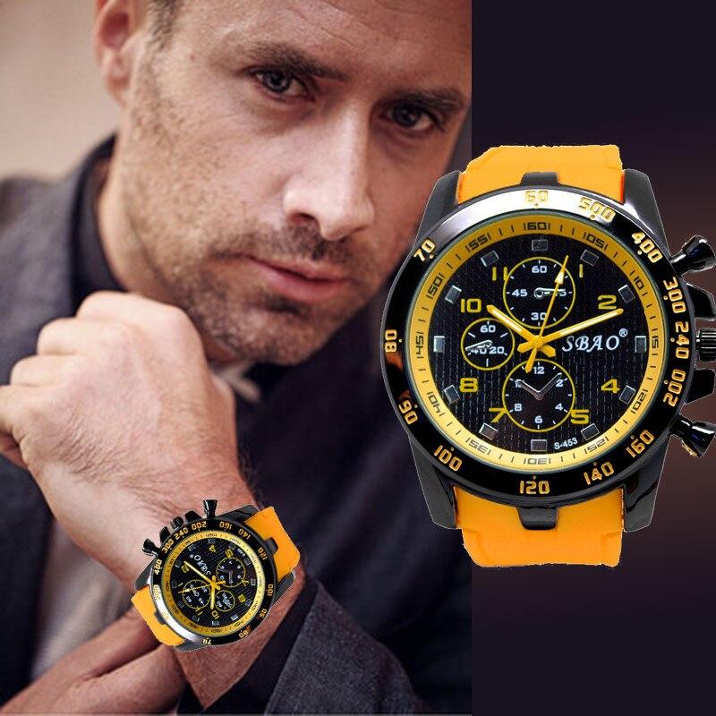 Stainless Steel Luxury Sport Analog Quartz Modern Men Fashion Wrist Watch YE часы муржски