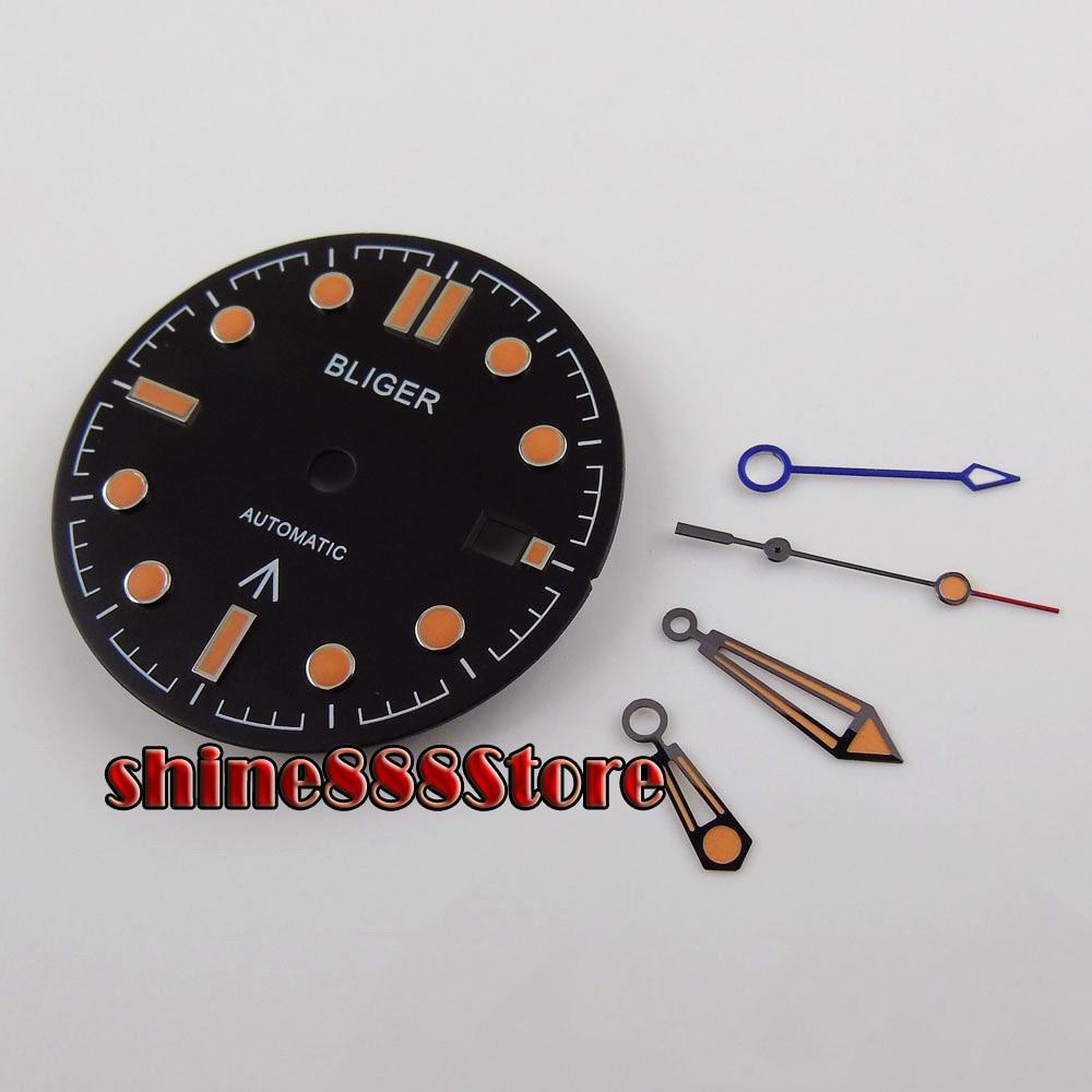 Nuevo reloj BLIGER Dial + GMT reloj ajuste de mano GMT MINGZHU 3804 movimiento