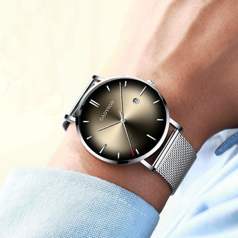 Reloj de pulsera para hombre 2019 relojes para hombre reloj de pulsera de marca de lujo para hombre de acero reloj de cuarzo clásico de negocios para hombre reloj de pulsera para hombre