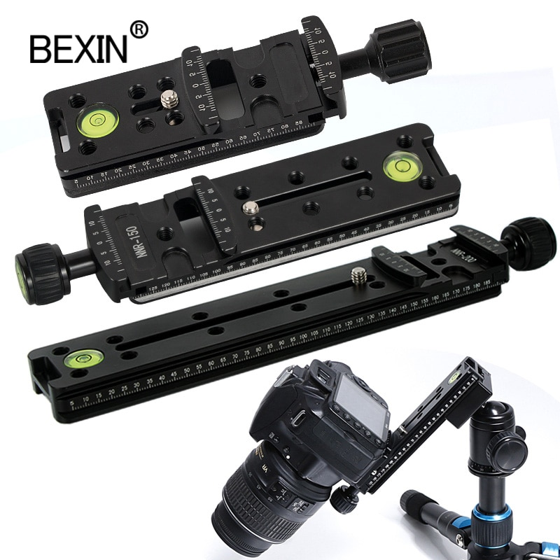 Slide Rail RRS long Quick Release plate Clamp Long-focus Zoom Lens Support Holder Bracket for Arca swiss Tripod camera ball head bexin camera clamp tripod clamp quick release clamp ball head rrs compatible adapter mount holder bracket for arca dslr camera