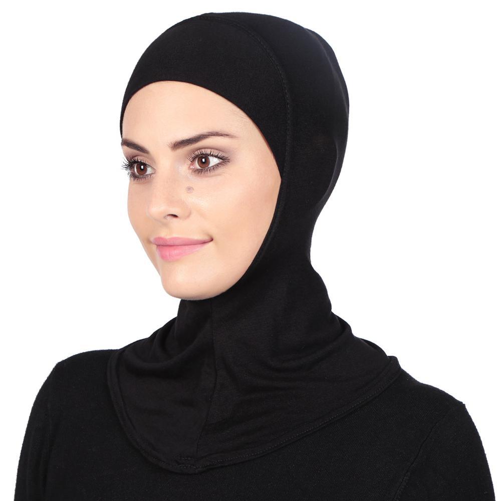 New hijab scarf Cotton Muslim Full Cover Inner Hijab Wraped Cap Islamic Underscarf women plain bubble Neck Head Bonnet turban