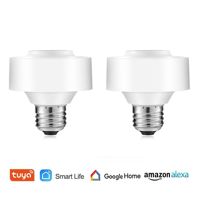 Smart WiFi Light Socket Voice Control Tuya Smart Life Smart Lamp Holder Remote Control Led Bulb Google Home Amazon Echo Alexa