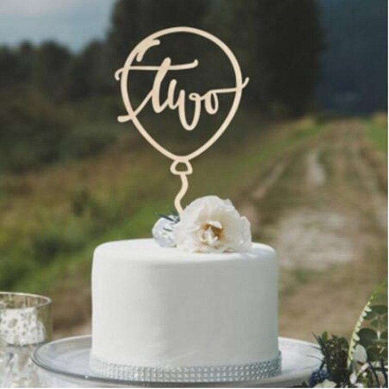 Dos adornos de torta para niño segundo decoración de fiesta con diseño de feliz cumpleaños niños niñas chicos Baby Shower aniversario decoración suministros