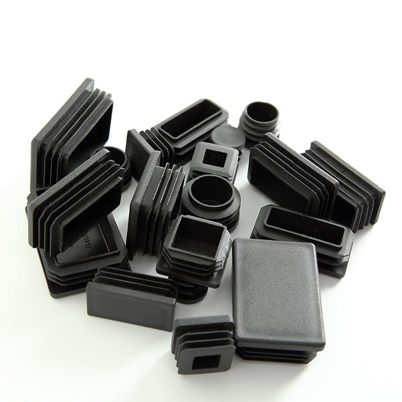 Квадратная пластиковая черная заглушка, заглушка для трубы, вставка для трубы, заглушка, черная/белая вставка для трубы для ножек стула, 15 мм...