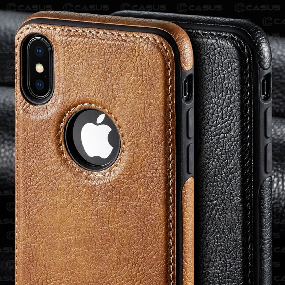 Funda de lujo para iPhone 11 Pro 11 Pro Max, funda retro de piel sintética con reverso fino para iphone XS Max XR X 8 7 6 6S Plus
