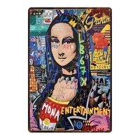 YZFQ    Street Graffiti Art Metal Etain Signe Etoile Retro Affiche Mur Salon Maison Artisanat Decor de Cinema 30X20CM DU-10218A