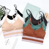 fashion wrapping chest adjustable seamless sexy suspender fitness lingerie women bras sports top