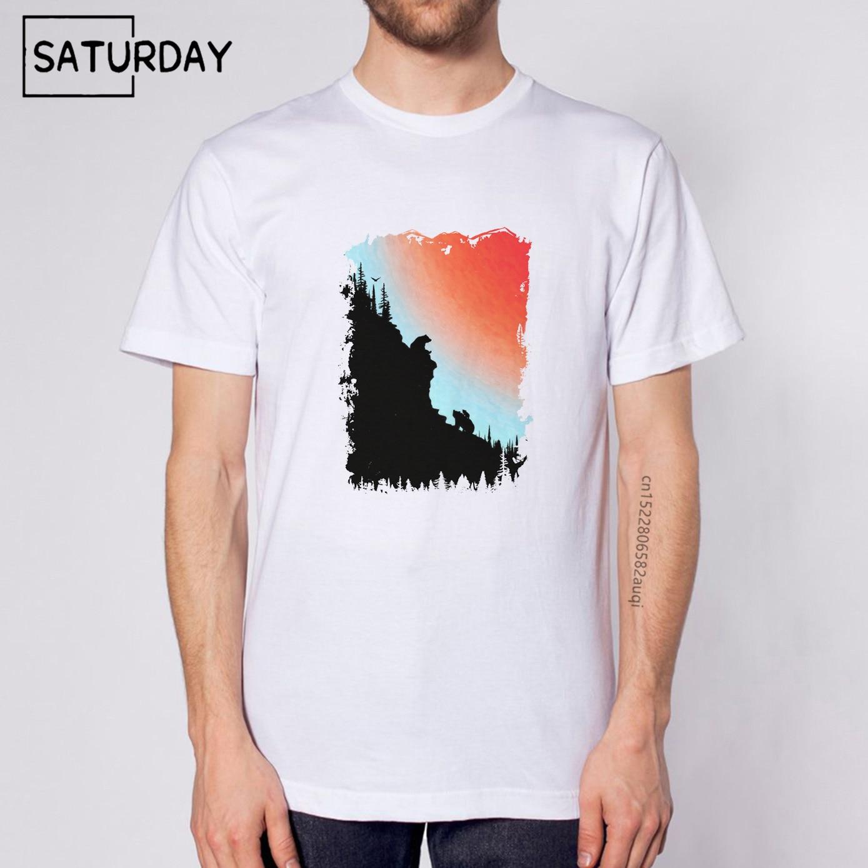 Мужская модная крутая Удобная белая футболка с принтом 2021, мужская одежда унисекс, повседневные футболки, Прямая поставка
