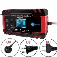 12v 8amp24v 4amp automotive smart battery chargermaintainer with lcd display for car truck motorcycle pulse repair charger