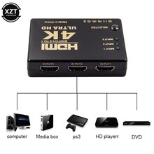 HDMI Switcher 4K HD1080P 3 Port HDMI Switch Selector Video Mini Splitter For HDTV DVD TV BOX High Quality