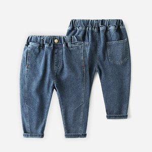CNUM New Fashion Boy Denim Jeans Kids Trousers for Boys Spring Summer Pants for Casual Loose Ripped Jeans Children Bottom