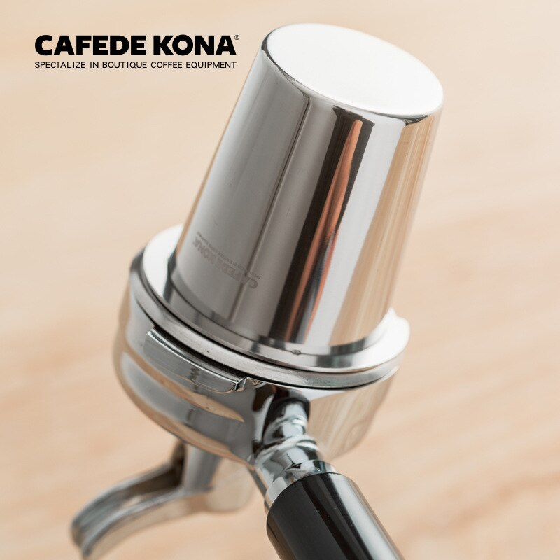 CAFEDEKONA الفولاذ المقاوم للصدأ الجرعات كوب القهوة الشم القدح مسحوق المغذية صالح 57 مللي متر ماكينة إسبريسو portafilter طاحونة مساعد