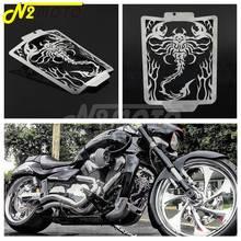 Motorfiets Rvs Radiator Grill Grille Cover Guard Voor Suzuki Boulevard M109R VZR1800 06-18 Cool Scorpion Vlam Stijl