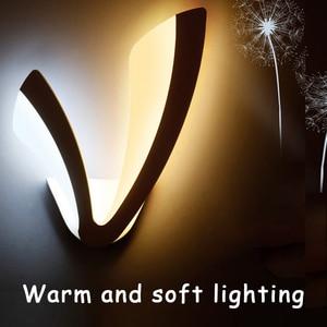 Big V simple creative led lighting bedroom bedside wall lamp background wall lights Home Decor Mirror light