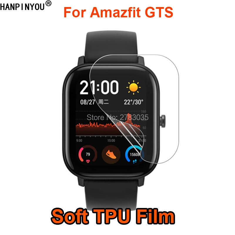 Para Xiaomi Huami Amazfit GTS, reloj inteligente deportivo, Protector de pantalla de película de TPU suave (no cristal templado)