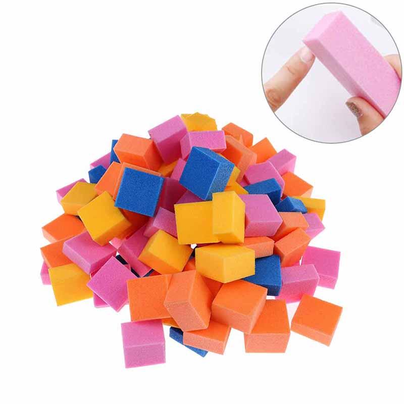 1pack Mini Sanding Sponge Polishing Nail Files Buffer Block Irregular Size DIY Art Tools Pedicure Manicure Beauty Gift