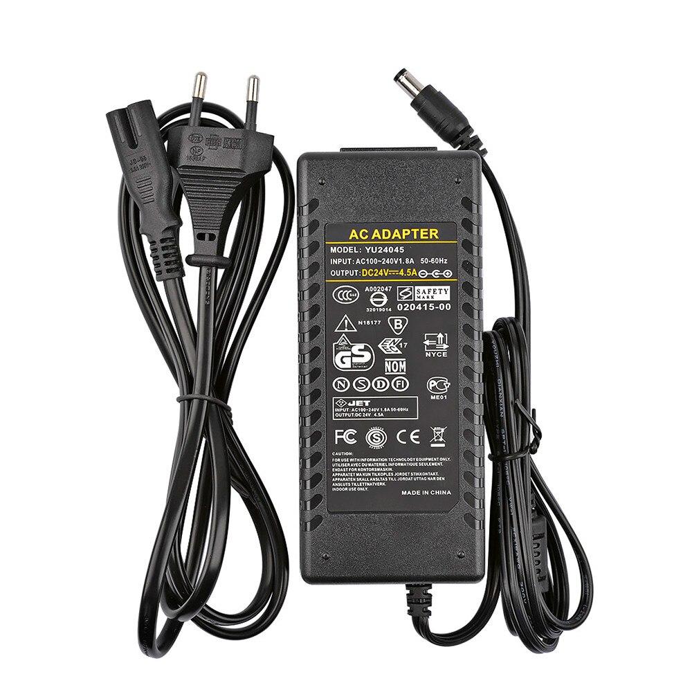 Усилитель 24 В адаптер питания AC100-240V к DC24V 4.5A источник питания для TPA3116 TPA3116D2 TDA7498E усилитель мощности штепсельная вилка европейского стандарта