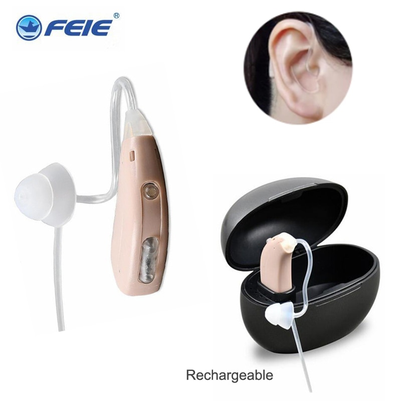 Digital Rechargeable Hearing Aids USB Ear Aid Sound Amplifier Portable Adjustable Tone For The Elder