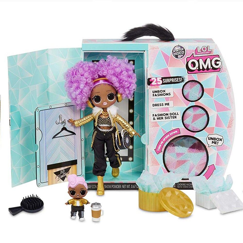 L.O.L Surprise! O.M.G. Disco dhiver 24K D.J. Poupée de mode et soeur LOL omg pour enfants jouet cadeaux de noël pour les enfants