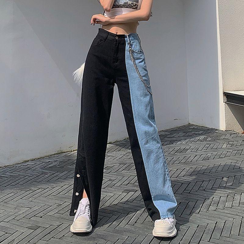 AliExpress - New Summer Vintage Jeans Woman Long Trousers Cowboy Female Loose Streetwear High Waist Women Jeans Split Clothes Wide Leg Jeans