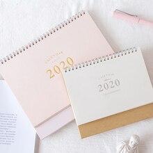 2020 NEUE Kawaii Nette 2 Größe Einfarbig Kalender Spule Zeitplan Kreative Schreibtisch Tisch Termine Erinnerung Zeitplan Planer sl2136