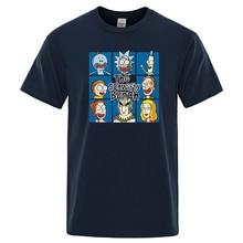 Anime de dibujos animados T camisas Hip Hop impresión Tops de algodón, camiseta de Verano Divertido camiseta Anime manga corta cuello Tees para hombre Streetwear