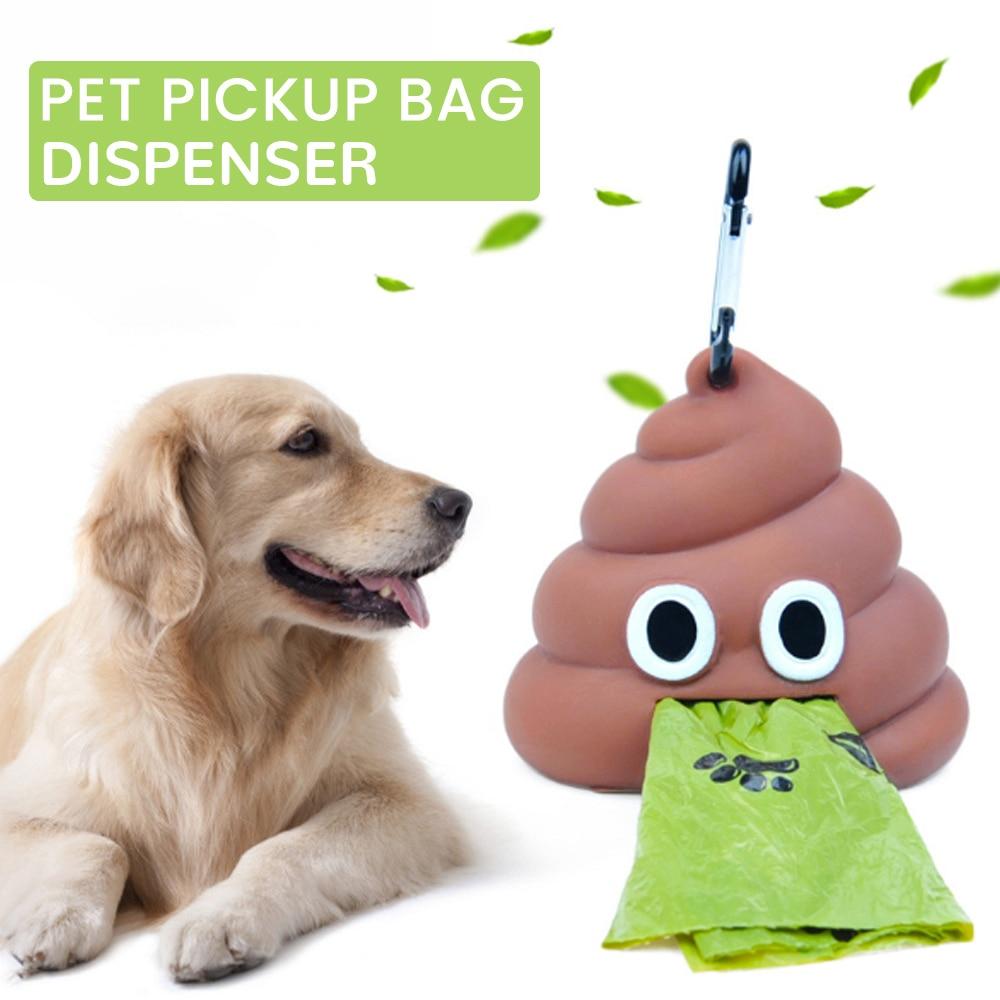 Bolsa para caca de perro o mascotas, bolsa de residuos de forma divertida, sirve para correa de Mascota, conjunto de bolsas para popó, bolsa de basura, caja de almacenamiento, recolector de desechos animales, Herramientas de limpieza