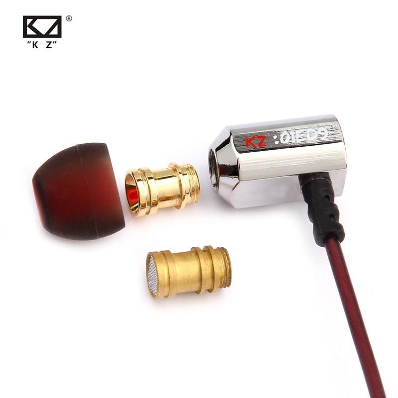 Kz ed9 3.5mm em fones de ouvido graves pesados alta fidelidade dj estéreo isolamento ruído kz fone de ouvido para kz as10 zs10 zsn pro c10