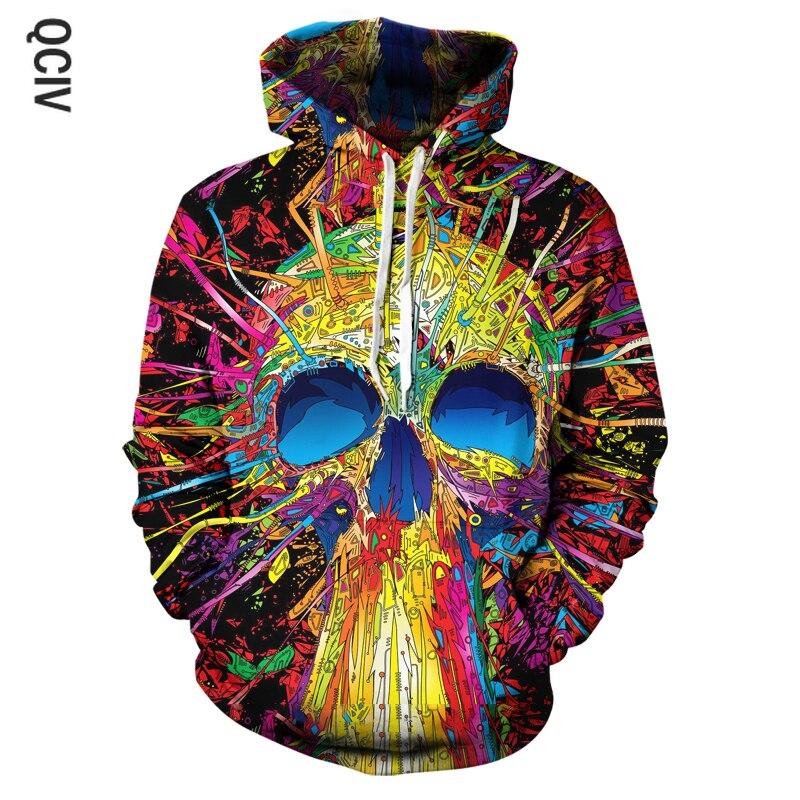 Hot sale Hoodie 3D print horror Skull Mens woman Hoodies leisure fashion Sweatshirt Autumn Winter High Quality Jacket