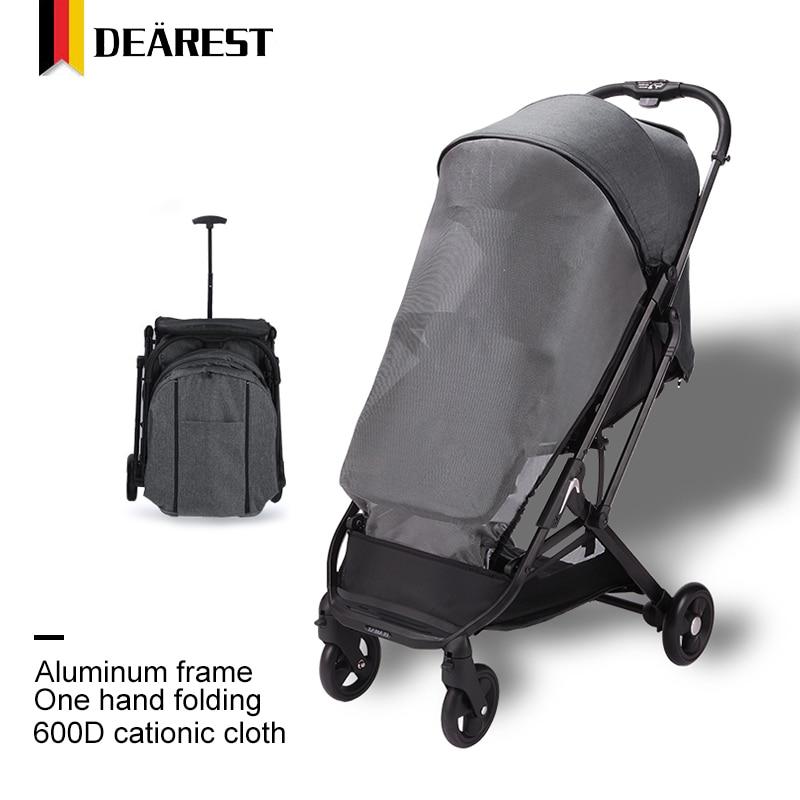 Dearest 2020 Baby Car Cart Model Folding Baby Stroller Lightweight 5.8kg in Russian Free Shipping enlarge