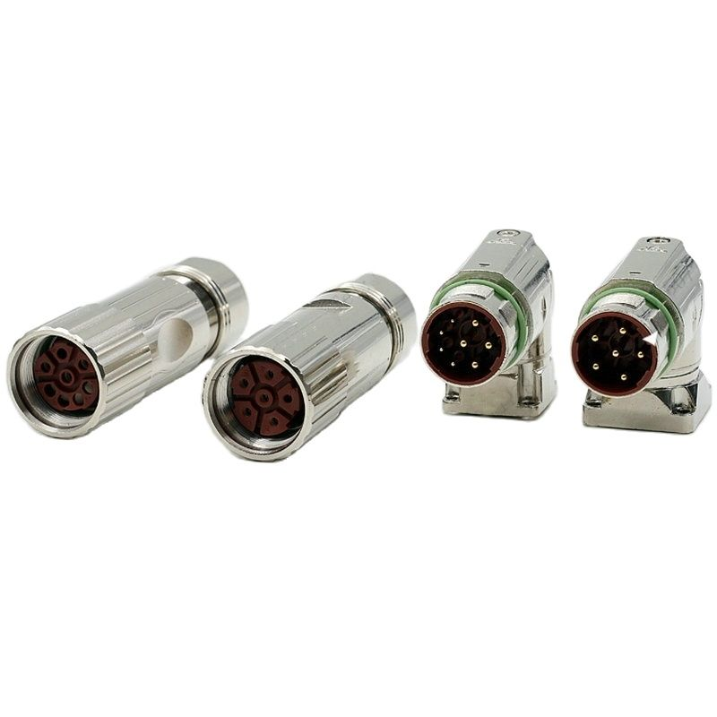 شحن مجاني المعادن 6 دبوس 8 دبوس النوى الإناث أو الذكور موصل M23 قابس طاقة ومأخذ