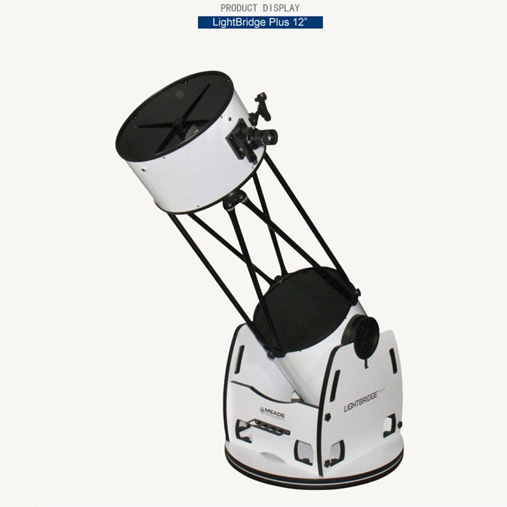Meade 12-inch LightBridgeplus 12'' Truss Dobson high-end Professional Deep Space Astronomical Telescope