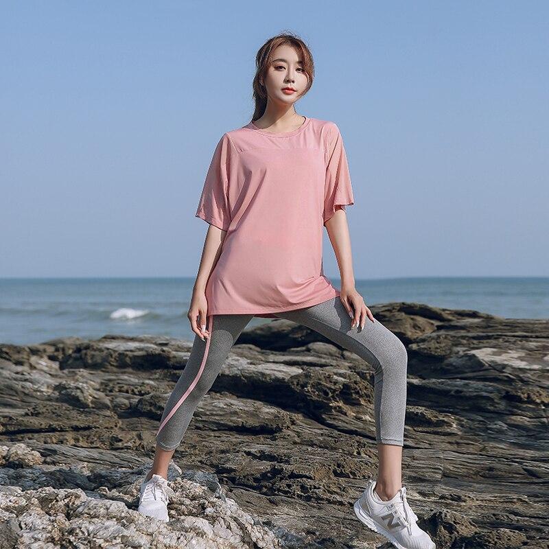 Conjunto de Yoga para mujer, ropa de gimnasio suelta de secado rápido,...