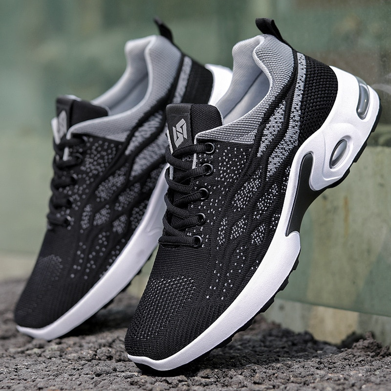 Hot Sale Summer Breathable Men's Casual Shoes Mesh Breathable Black Mens Shoes Fashion Moccasins Lig