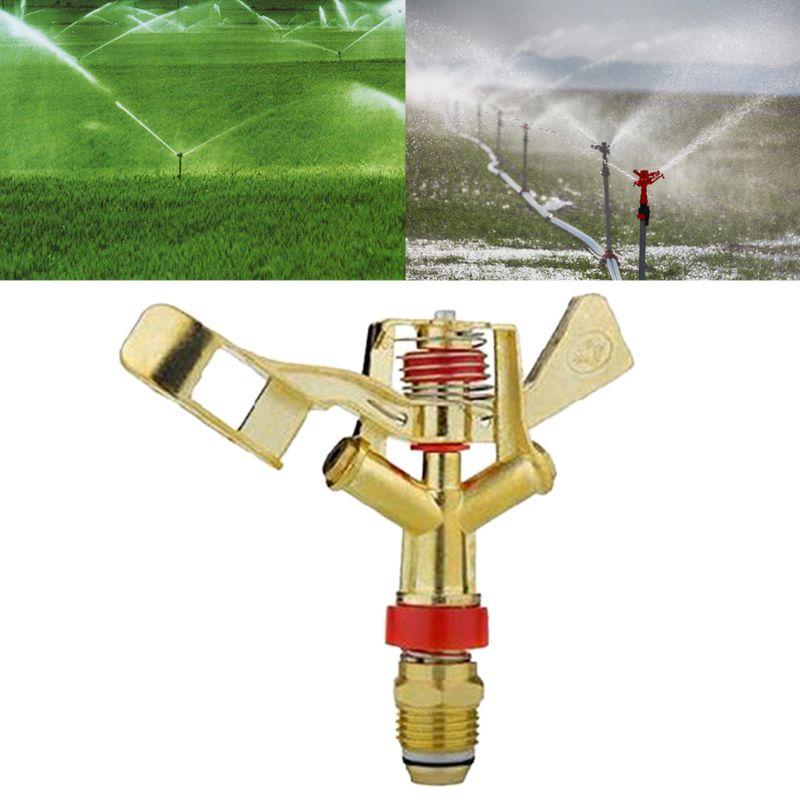 360 ° de rotación goteador de riego 3/4 granja riego boquilla de Spray para el jardín basculante emisor