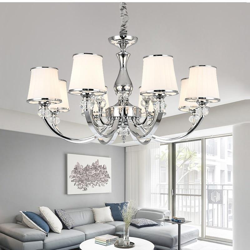 الكروم جديد كريستال مصباح نجف غرفة المعيشة غرفة نوم الحديثة Led الثريا غرفة الطعام الإضاءة مصباح الكريستال مصباح E14 led ضوء