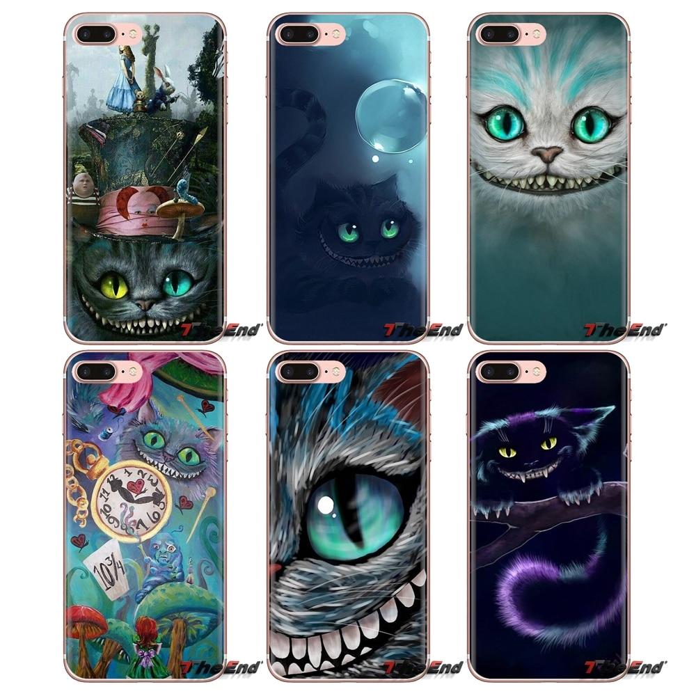Mobile Phone Cover Alice in Wonderland Cheshire Cat For Xiaomi Mi4 Mi5 Mi5S Mi6 Mi A1 A2 5X 6X 8 9 Lite SE Pro Mi Max Mix 2 3 2S