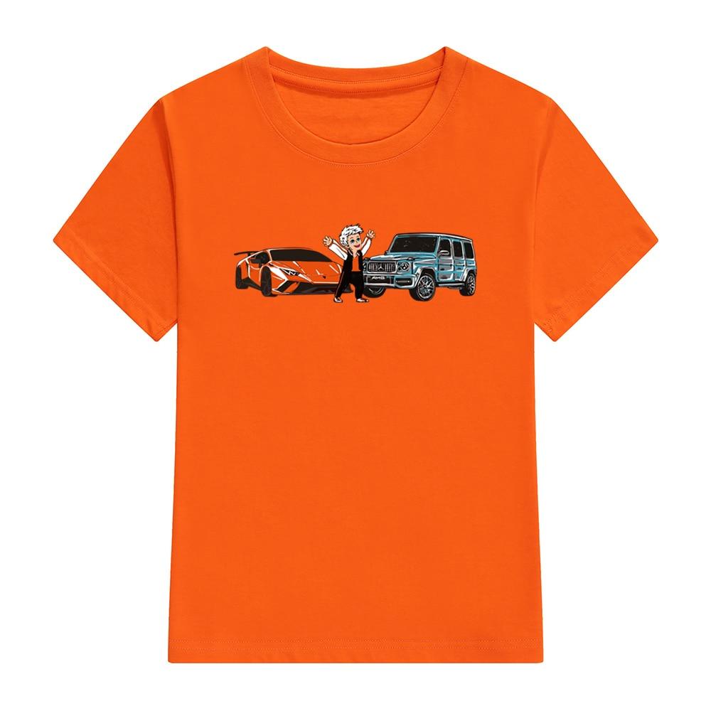 Children's Merch A4 T Shirts Spring Summer Family Clothing Boy's Gelik & Lamba Print Fashion T-shirt