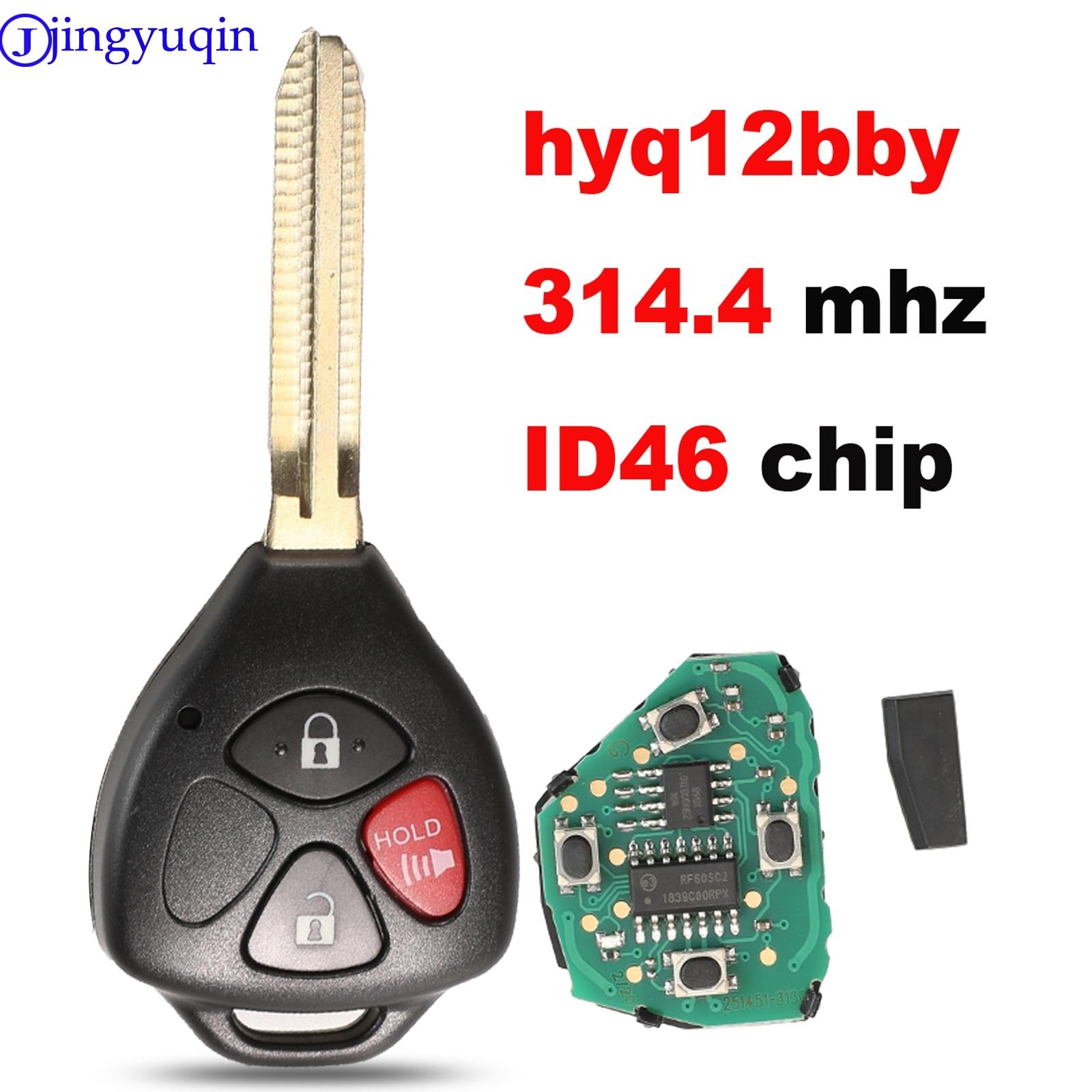 Jingyuqin 3 botones a 314mhz HyQ12BBY con Chip ID67 llave de control remoto para Toyota RAV4 Yaris Venza Scion tC/xA/xB/xC