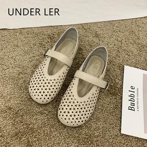New summer 2020 women's shoes soft soles flat heel perforated women's shoes platform sandals Roman Sandalias Mujer T058