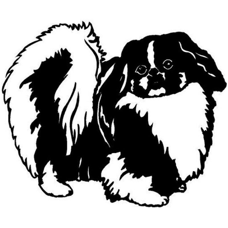 Pegatina de coche Inu Beijing, pegatina de perro para coche, Linda pegatina, accesorios de estilismo para coche, funda impermeable decorativa de PVC contra arañazos, 15cm * 13cm
